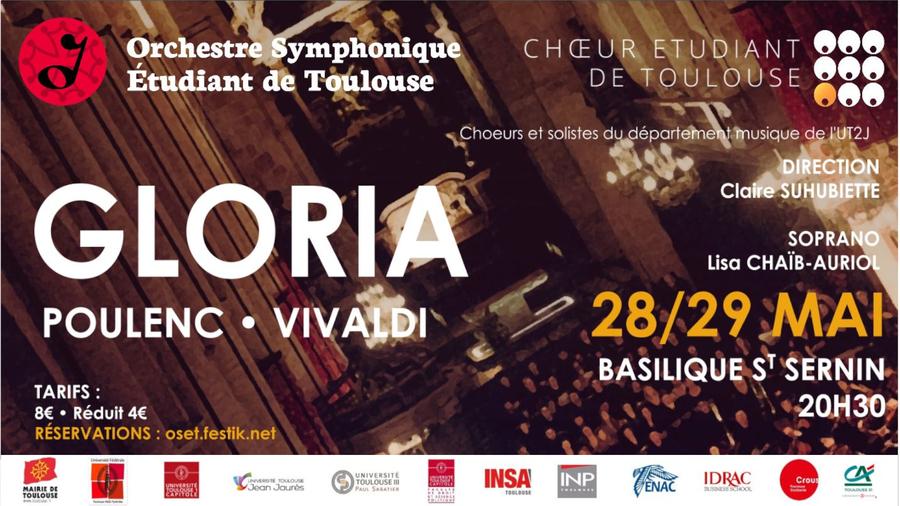 Chœur et orchestre : concerts Gloria les 28 et 29 mai