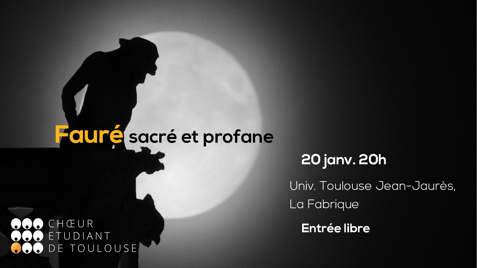 Bannière du concert Fauré : sacré et profane du 20 janvier 2020