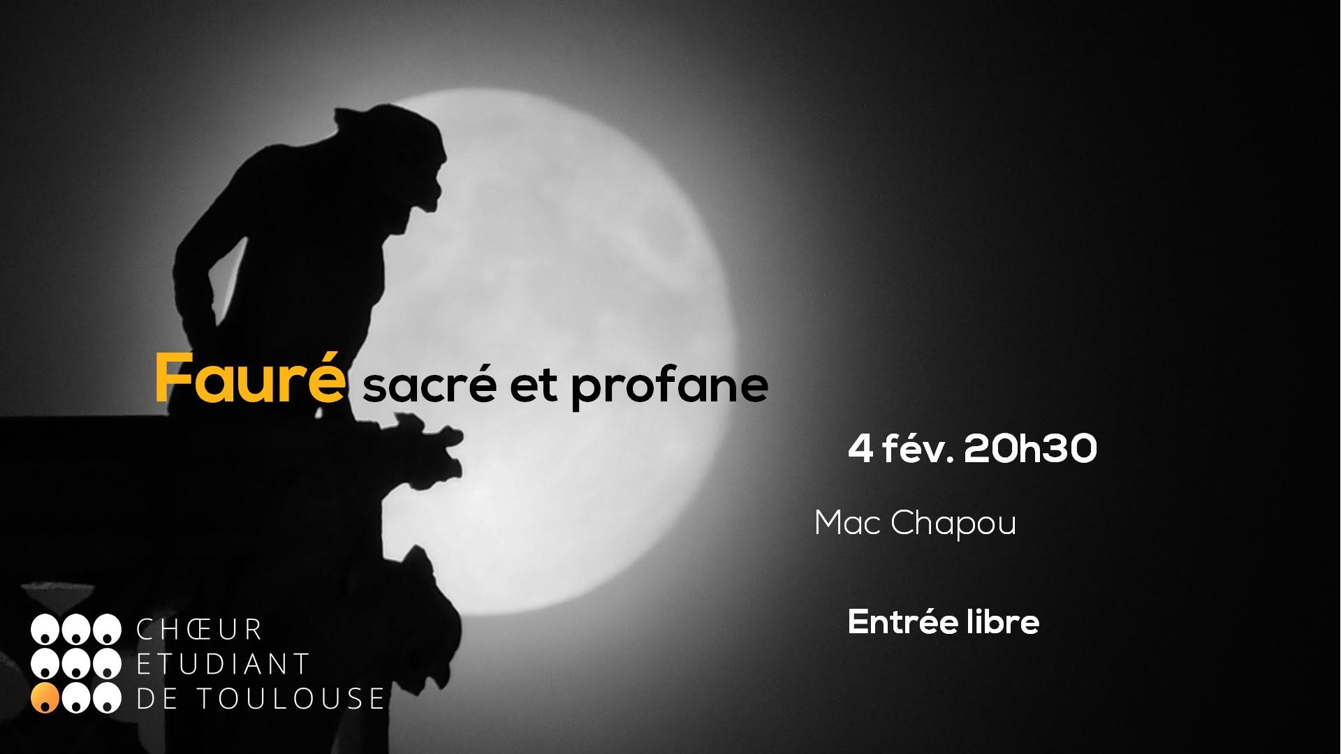 Bannière du concert Fauré : sacré et profane du 4 février 2020
